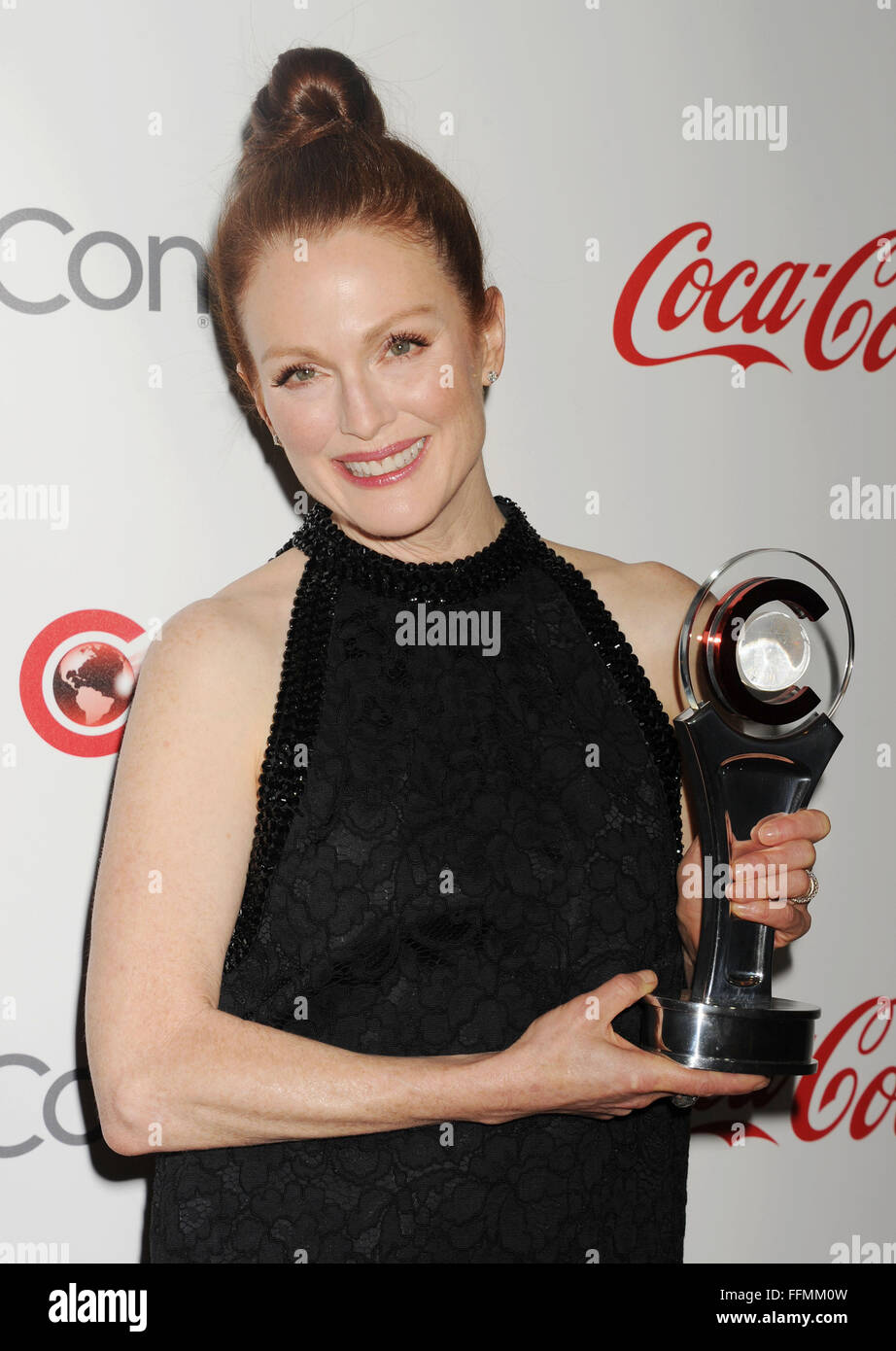 Actress Julianne Moore arrives at the 2015 CinemaCon - 2015 Big Screen Achievement Awards at Caesars Palace Resort - Stock Image