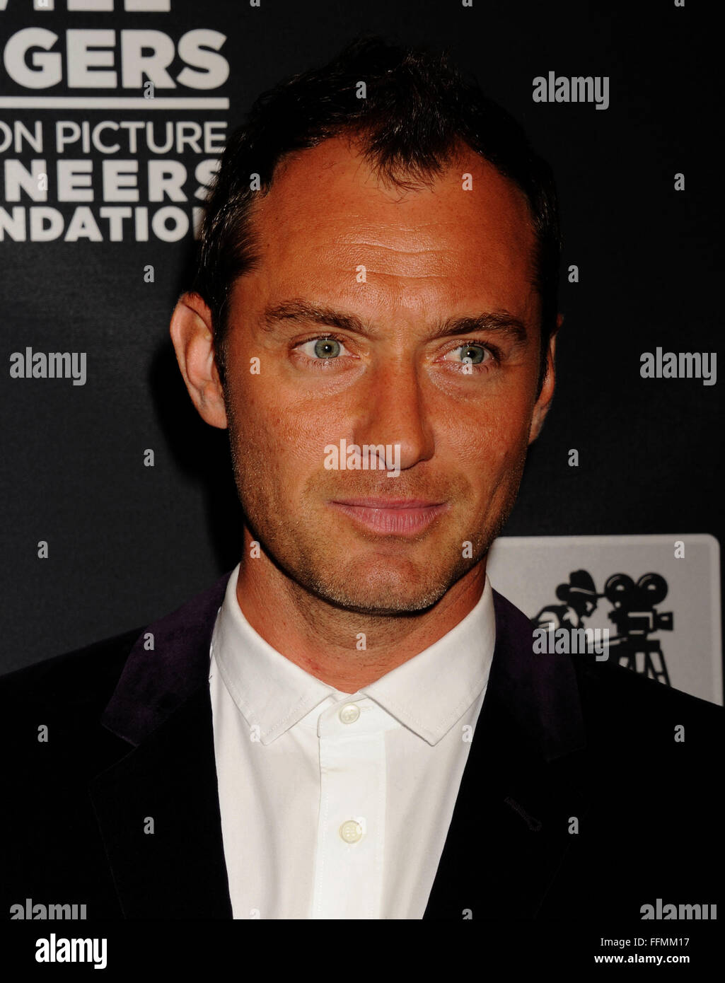Actor Jude Law attends the Pioneer Dinner during 2015 CinemaCon at Caesars Palace on April 22, 2015 in Las Vegas, - Stock Image