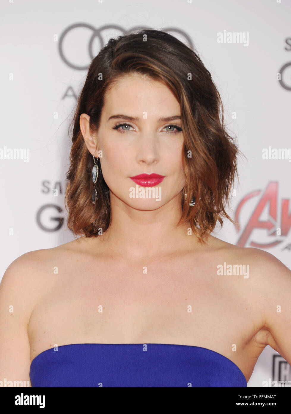 Actress Cobie Smulders Arrives At The Marvel S Avengers Age Of Stock Photo Alamy