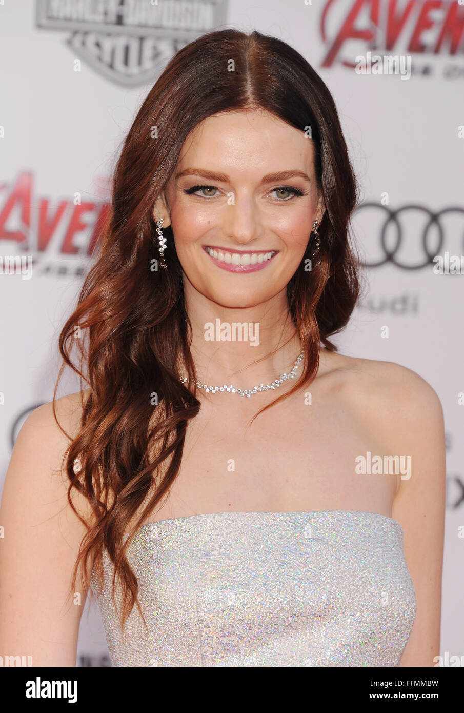 Actress/model Lydia Hearst arrives at the Marvel's 'Avengers: Age Of Ultron' - Los Angeles Premiere - Stock Image