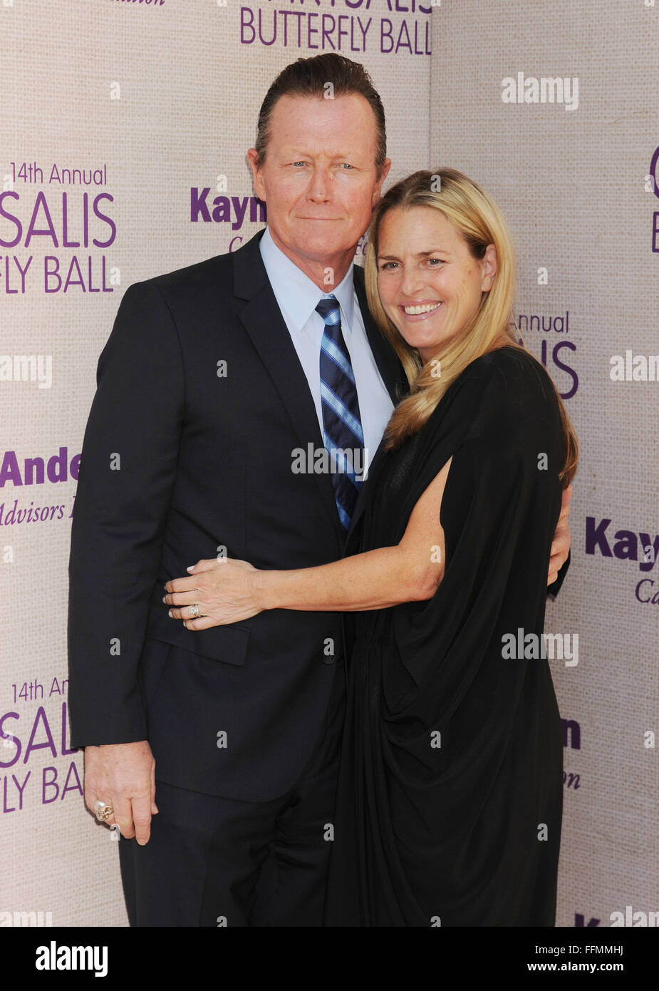 Actors Robert Patrick (L) and Barbara Patrick attend the 14th annual Chrysalis Butterfly Ball sponsored by Audi, - Stock Image