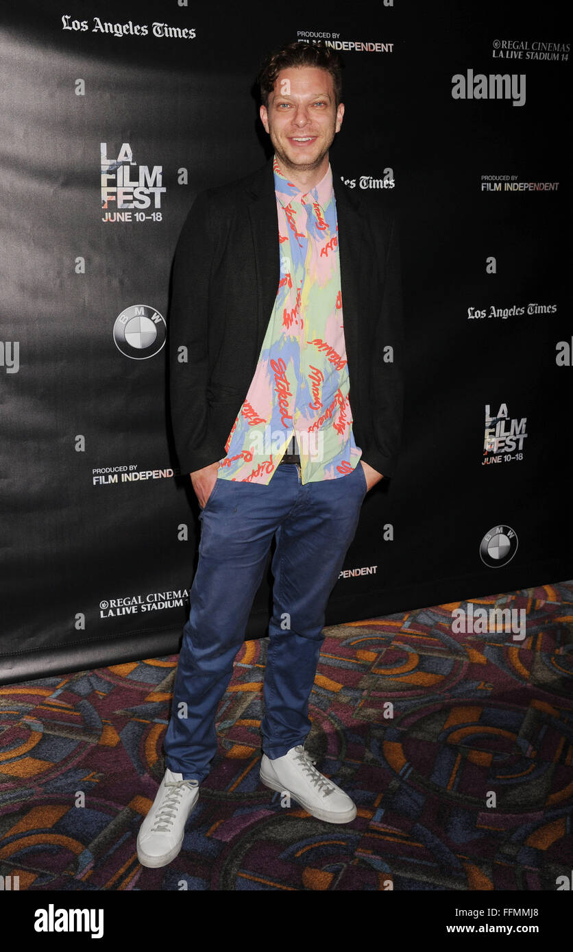 Director Todd Strauss-Schulson attends 'The Final Girls' screening during the 2015 Los Angeles Film Festival - Stock Image