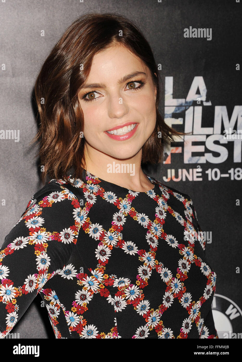 Actress Angela Trimbur attends 'The Final Girls' screening during the 2015 Los Angeles Film Festival at - Stock Image