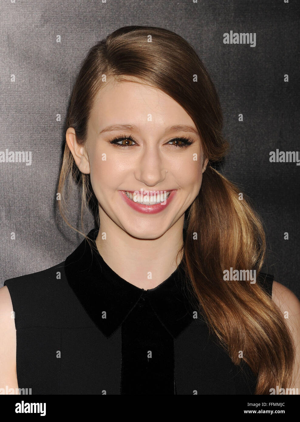 Actress Taissa Farmiga attends 'The Final Girls' screening during the 2015 Los Angeles Film Festival at - Stock Image