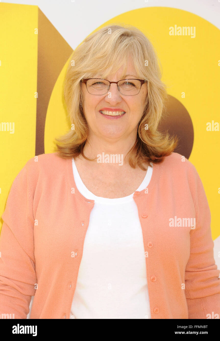 Producer Janet Healy arrives at the premiere of Universal Pictures and Illumination Entertainment's 'Minions' - Stock Image