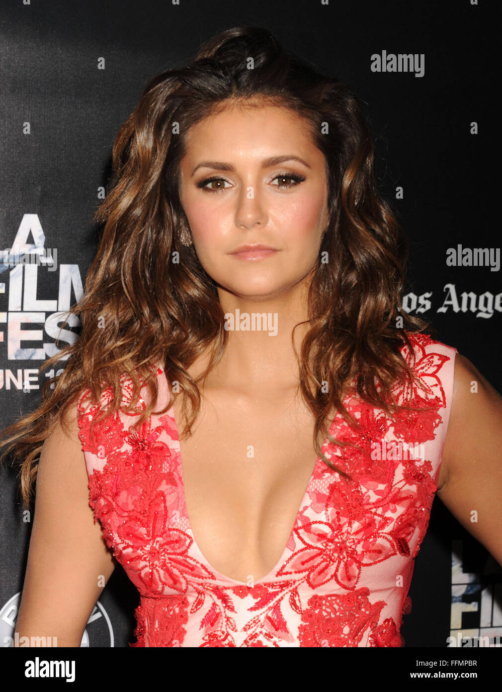 Actress Nina Dobrev attends 'The Final Girls' screening during the 2015 Los Angeles Film Festival at Regal - Stock Image