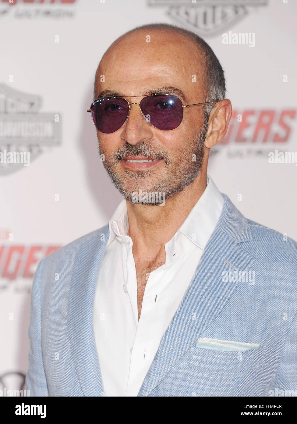 "Actor Shaun Toub arrives at the Marvel's ""Avengers: Age Of Ultron"" - Los Angeles Premiere at Dolby Theatre on April Stock Photo"