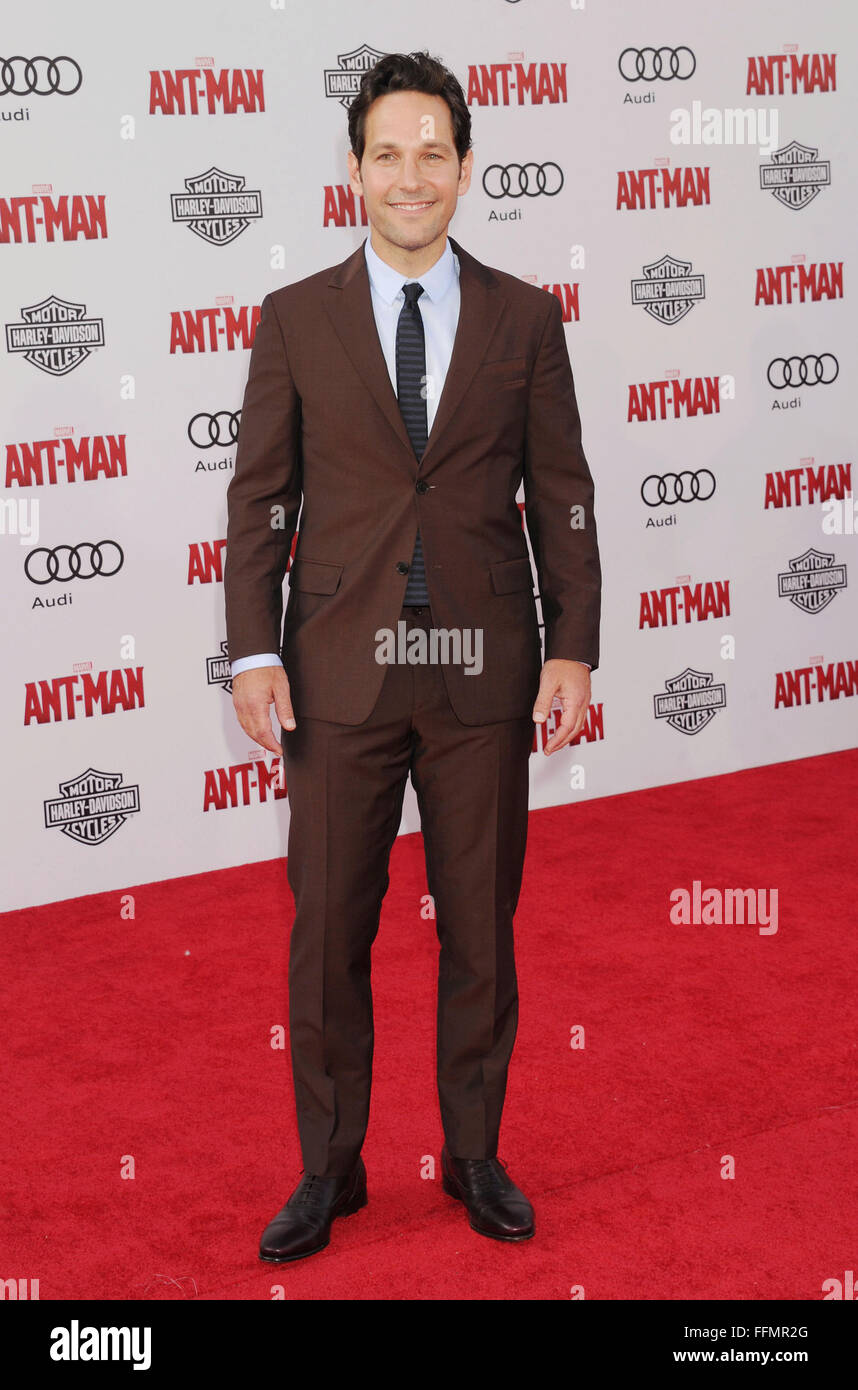 2ab377f3fb9d3 Actor Paul Rudd arrives at the Los Angeles Premiere of Marvel ...