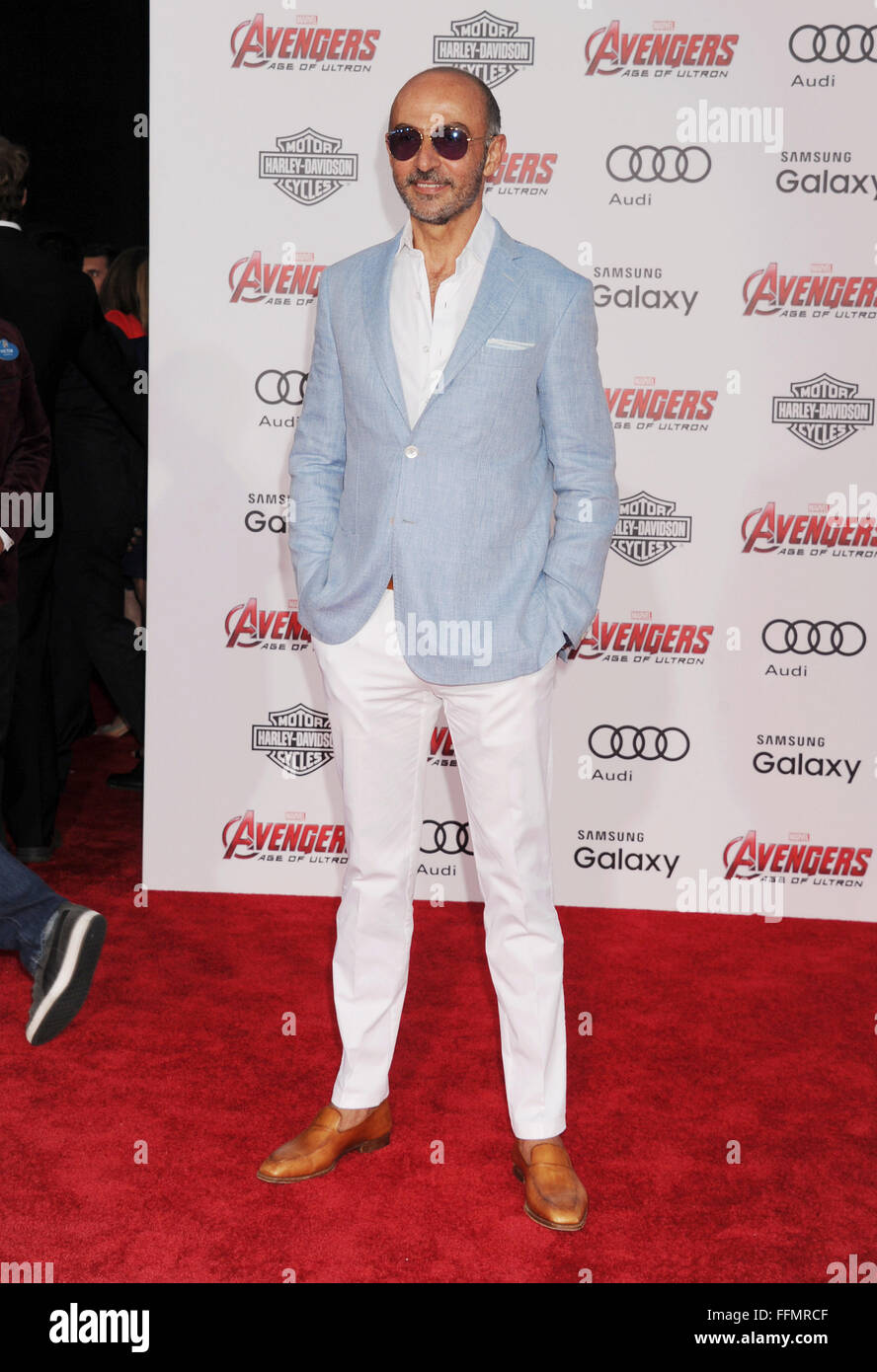 Actor Shaun Toub arrives at the Marvel's 'Avengers: Age Of Ultron' - Los Angeles Premiere at Dolby Theatre - Stock Image