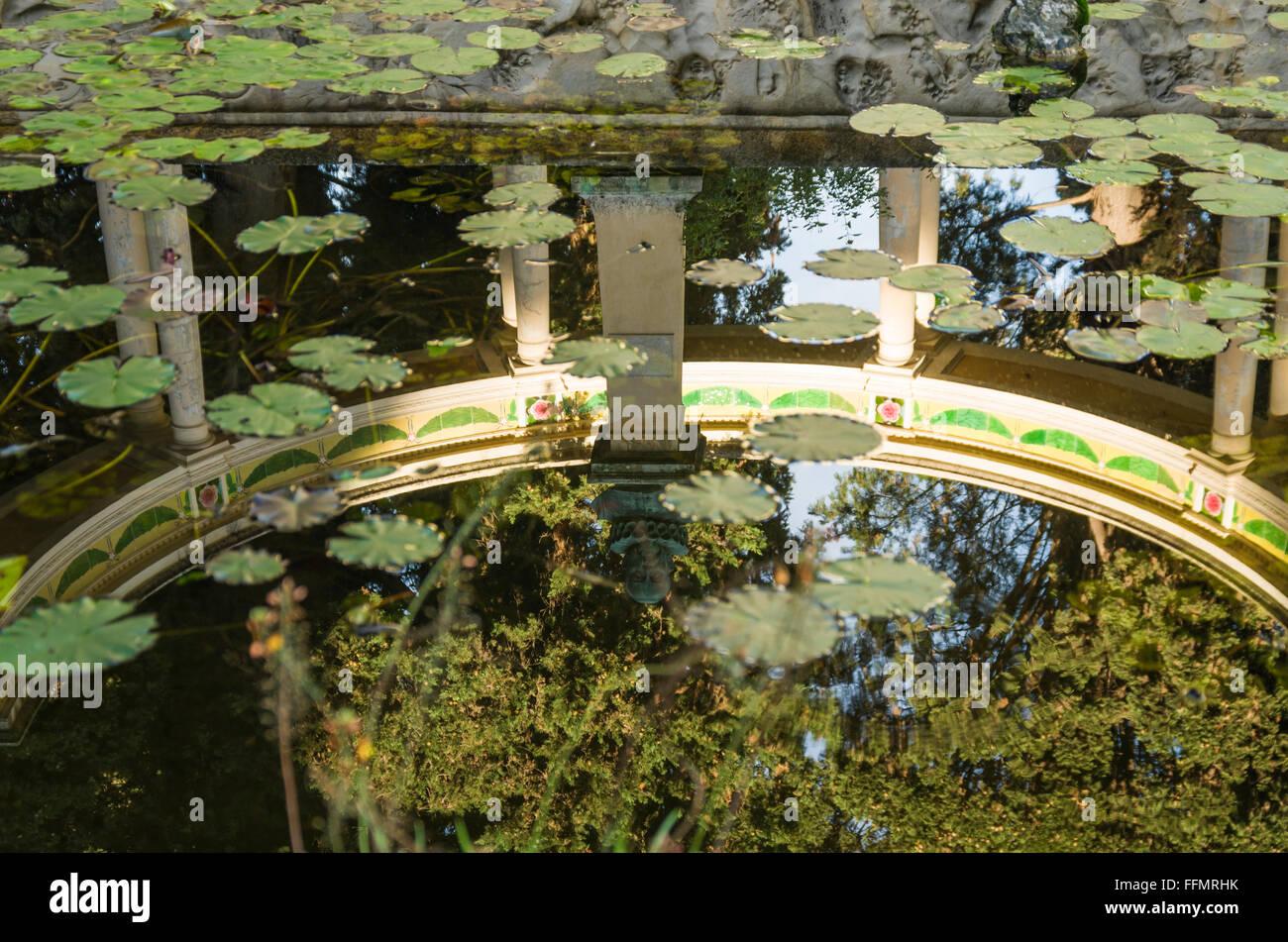 Fontana Rosa garden, Menton, PACA, France - Stock Image