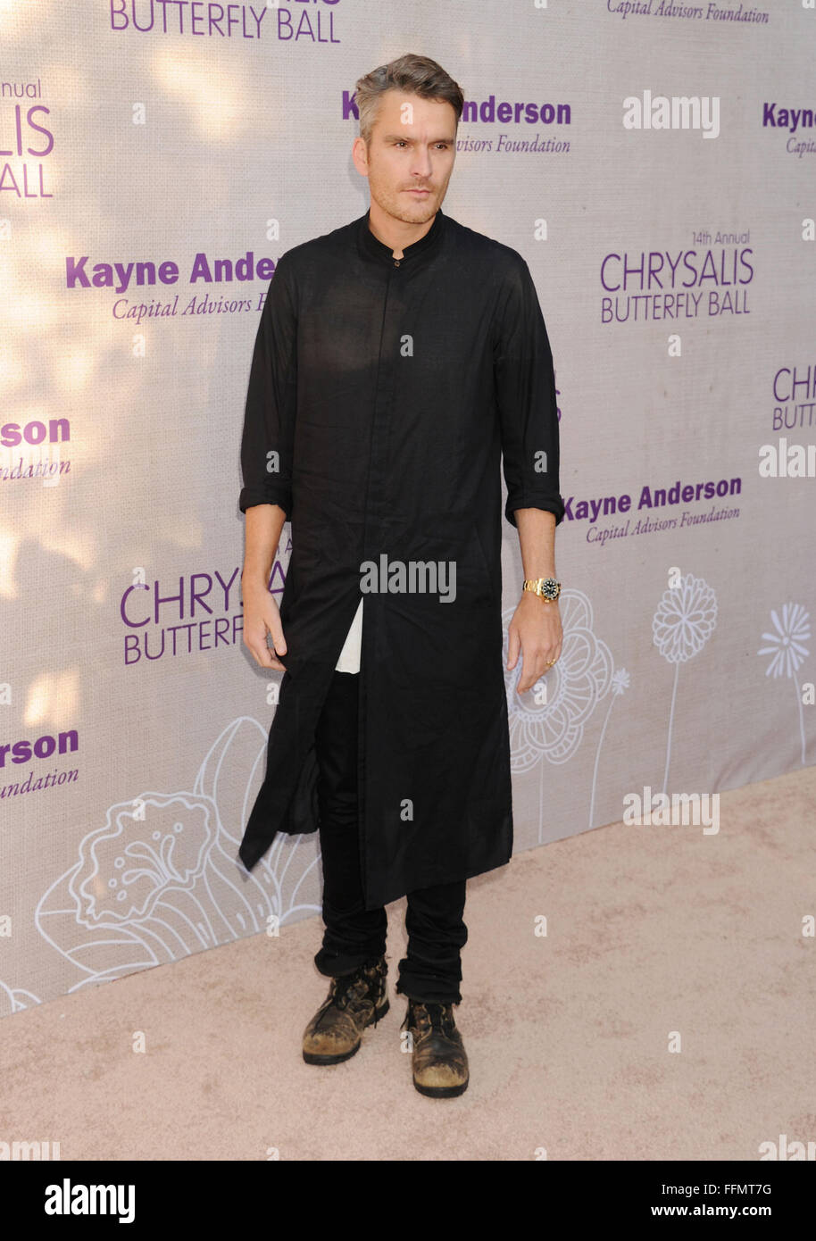 Actor Balthazar Getty attends the 14th annual Chrysalis Butterfly Ball sponsored by Audi, Kayne Anderson, Lauren - Stock Image