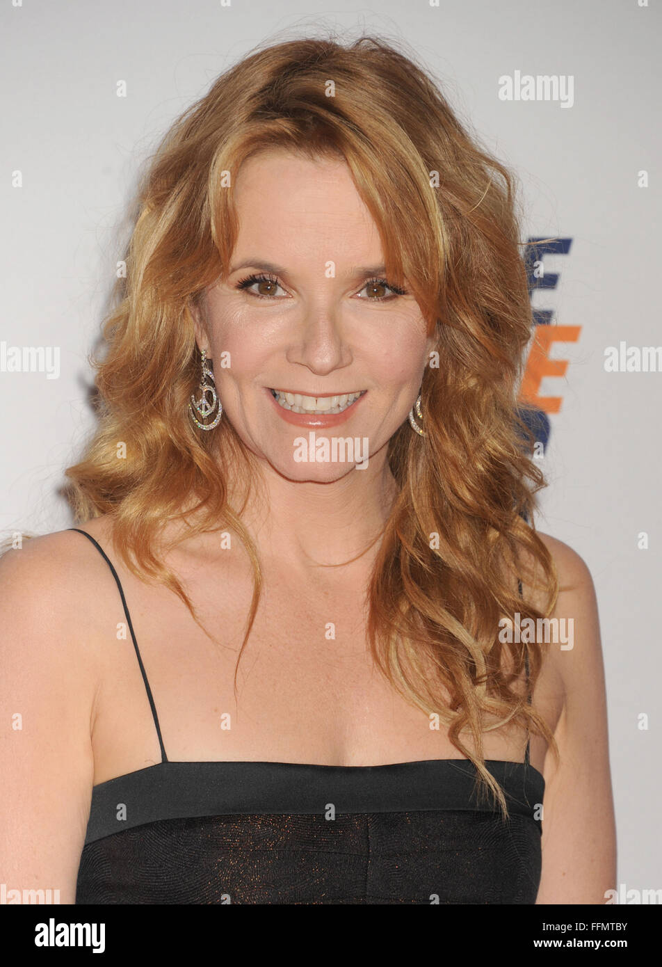 Actress Lea Thompson arrives at the 22nd Annual Race To Erase MS at the Hyatt Regency Century Plaza on April 24, - Stock Image