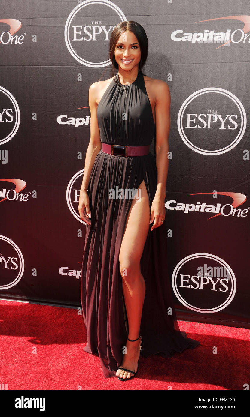 Singer Ciara arrives at the The 2015 ESPYS at Microsoft Theater on July 15, 2015 in Los Angeles, California., Additional - Stock Image