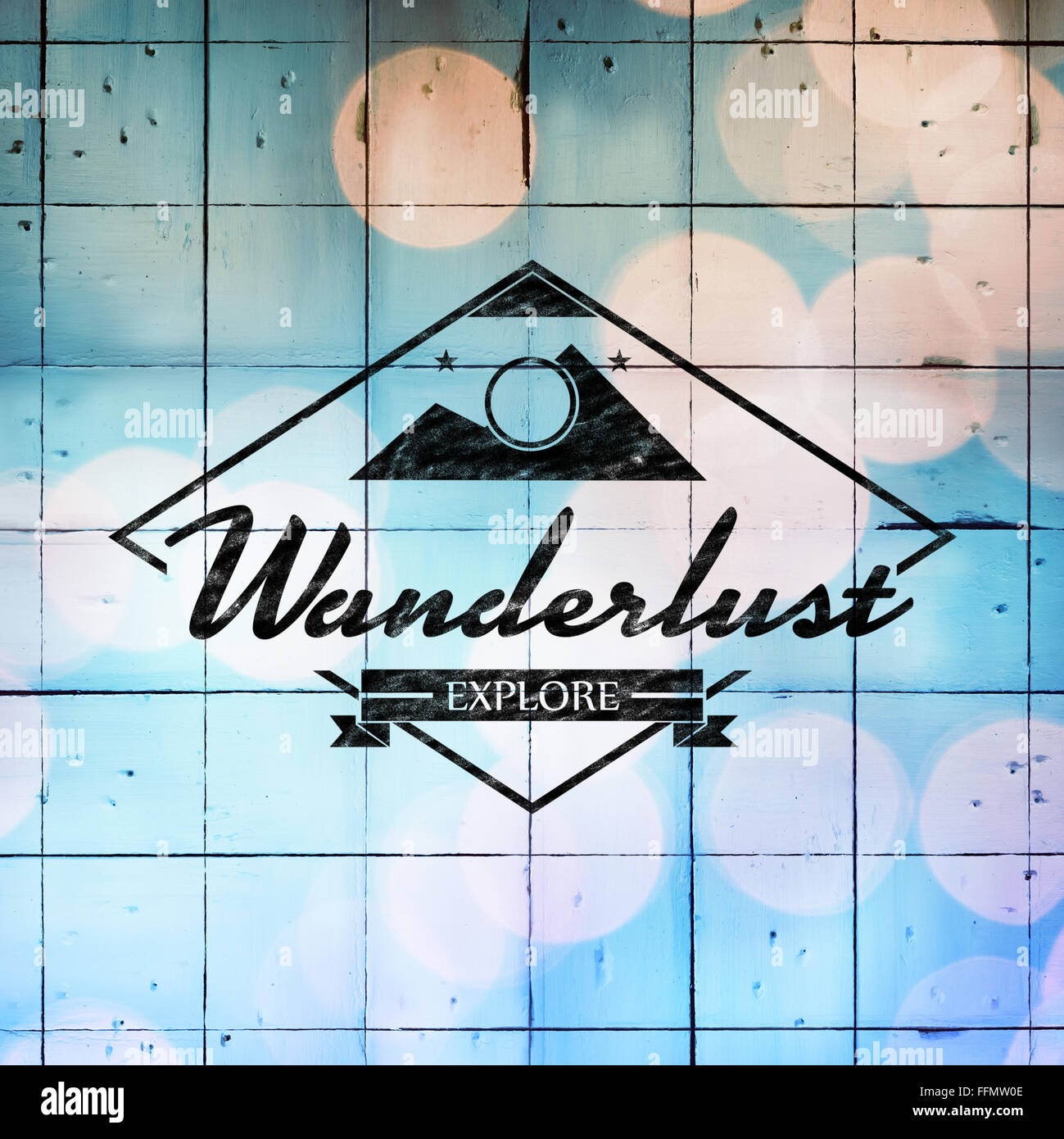 Composite image of wanderlust logo - Stock Image