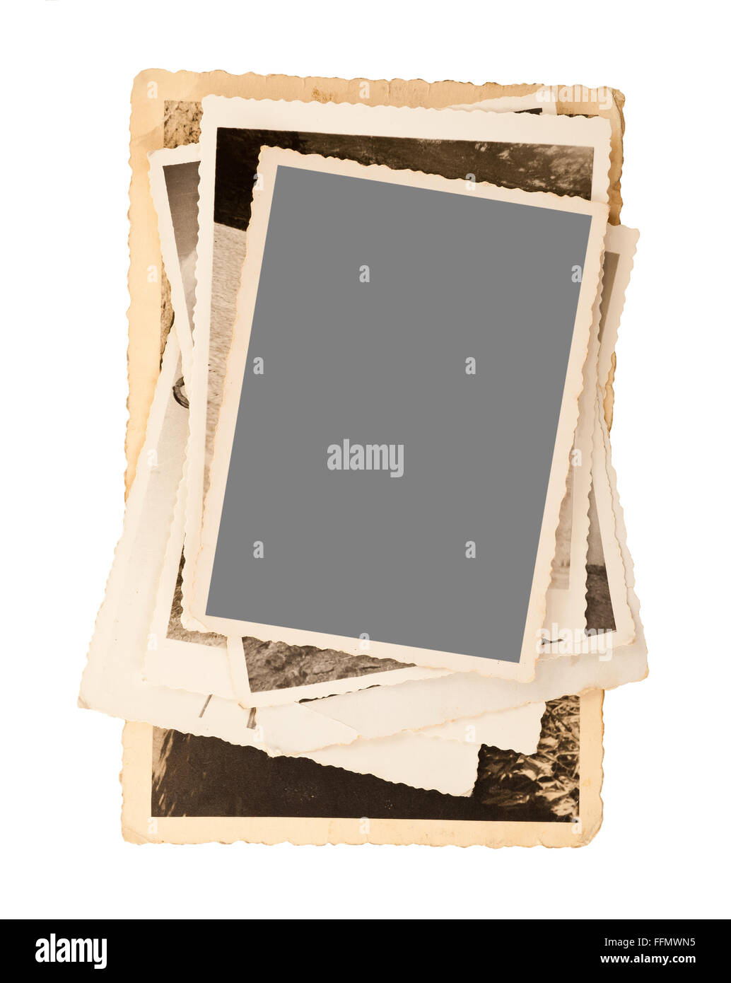 old pictures frame isolated on white - Stock Image