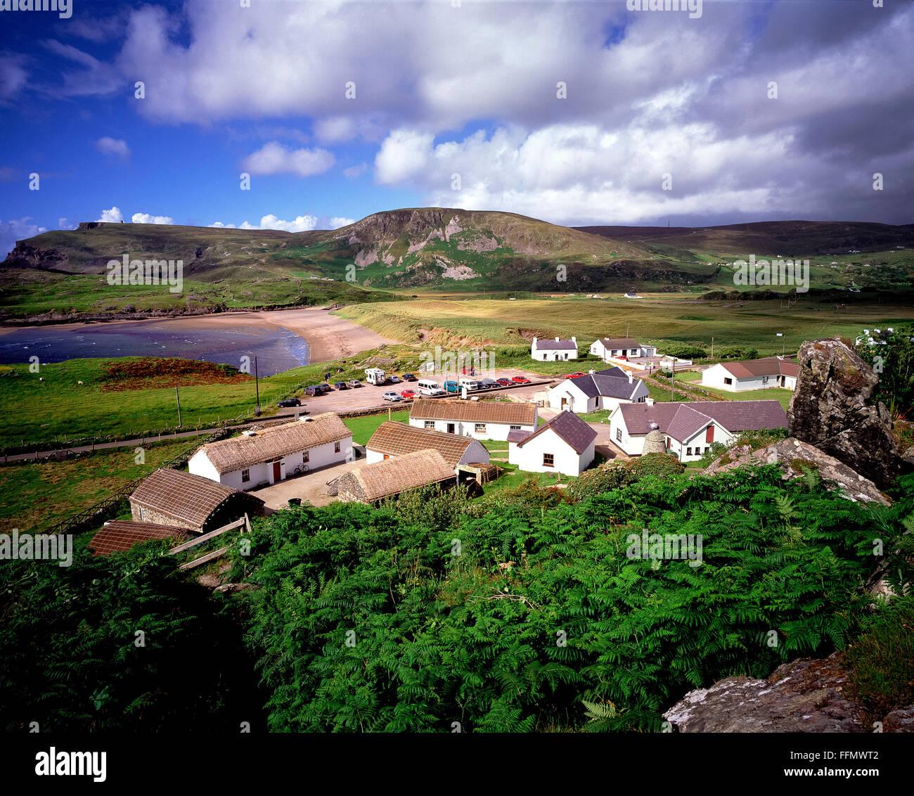 Glencolumbkille folk vilage west Donegal Ireland - Stock Image