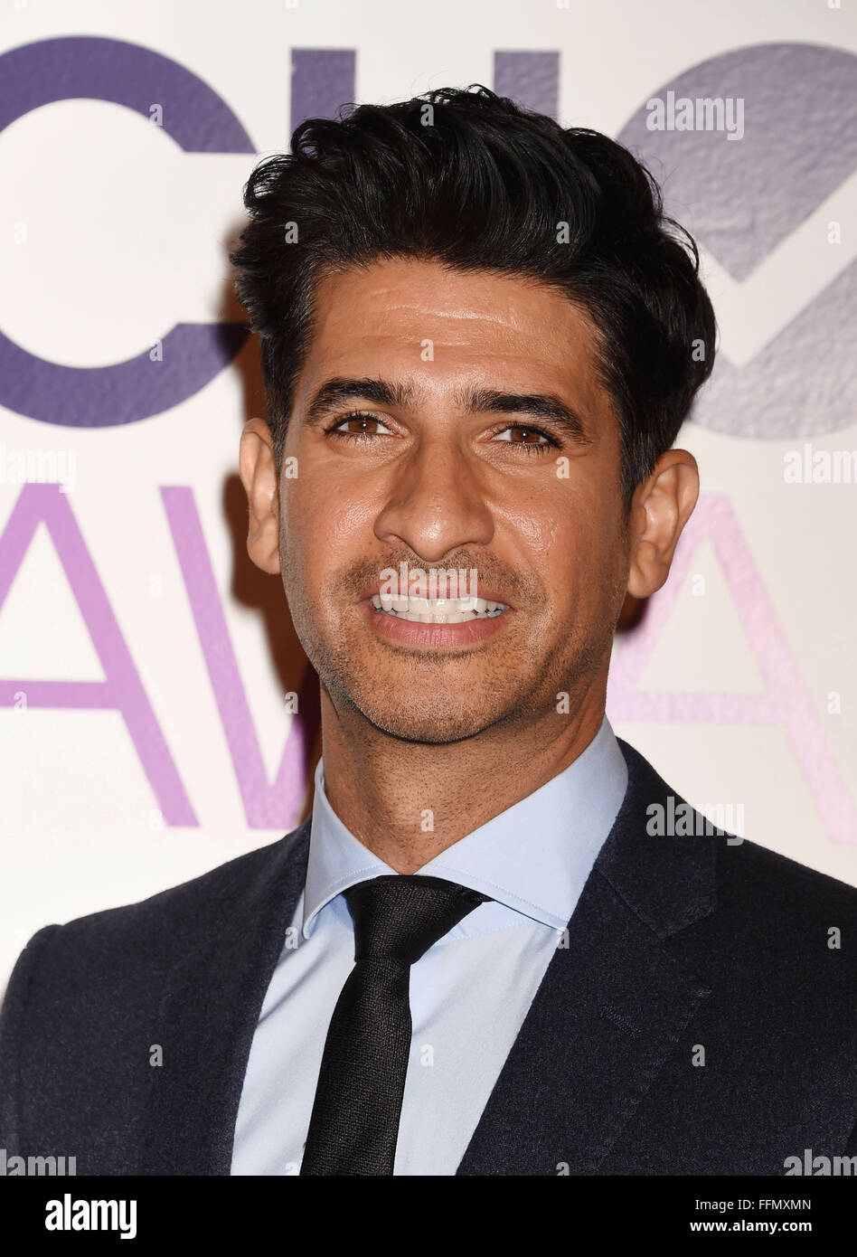 Actor Raza Jaffrey attends the People's Choice Awards 2016 - Nominations Press Conference at The Paley Center - Stock Image