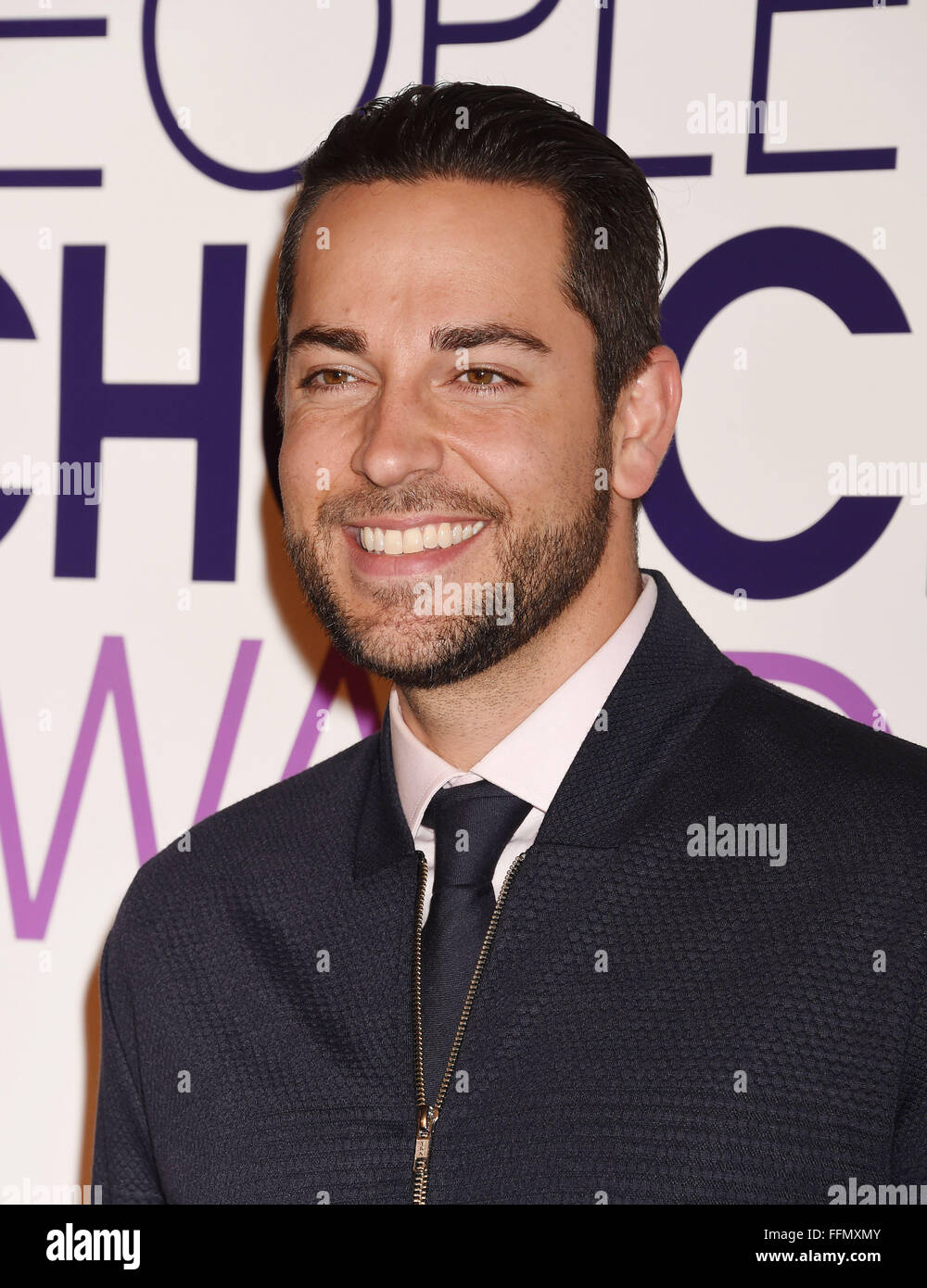 Actor Zachary Levi attends the People's Choice Awards 2016 - Nominations Press Conference at The Paley Center - Stock Image
