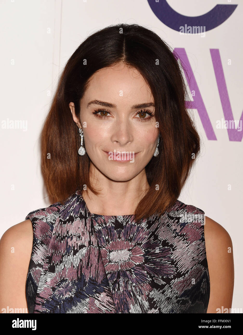 Actress Abigail Spencer attends the People's Choice Awards 2016 - Nominations Press Conference at The Paley - Stock Image