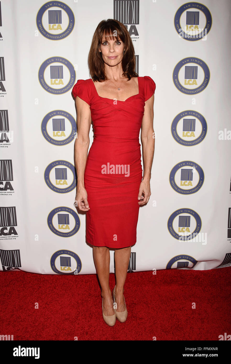 Actress Alexandra Paul attends the Last Chance for Animals Benefit Gala at The Beverly Hilton Hotel on October 24, - Stock Image