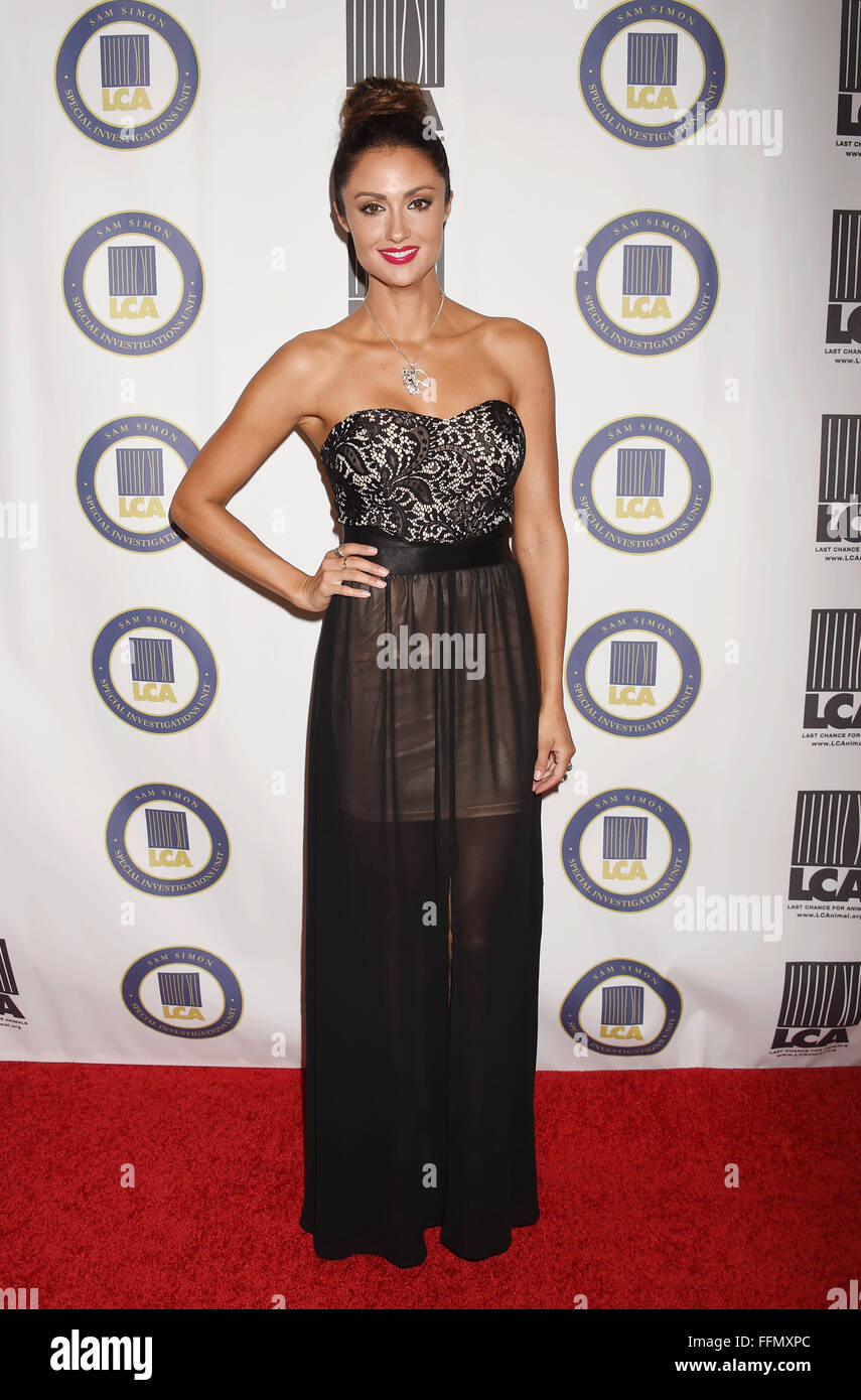 Actress Katie Cleary attends the Last Chance for Animals Benefit Gala at The Beverly Hilton Hotel on October 24, - Stock Image