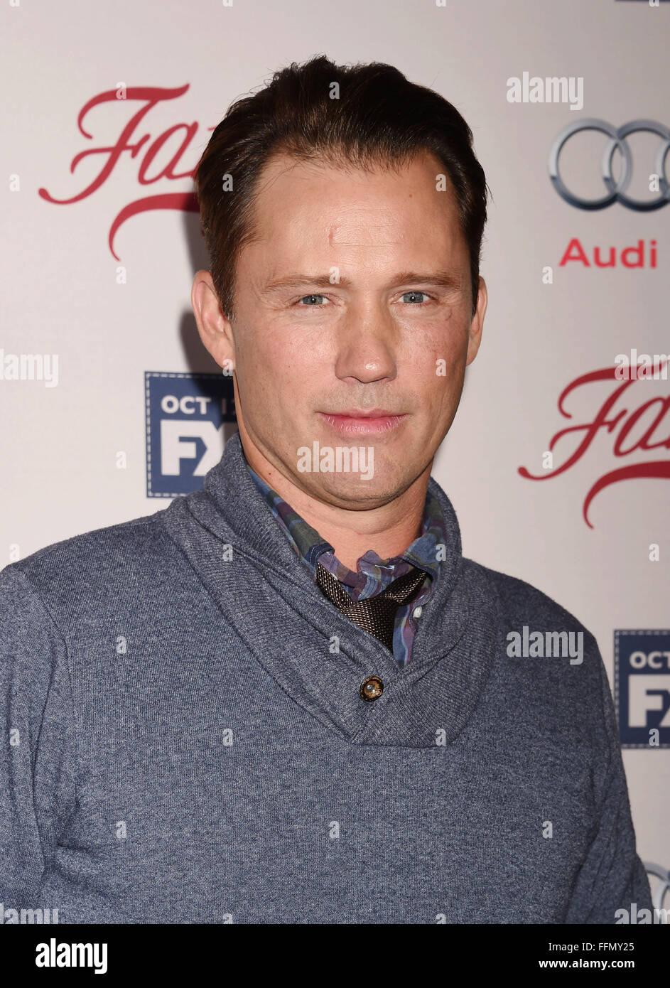 Actor Jeffrey Donovan attends the premiere of FX's 'Fargo' Season 2 held at ArcLight Cinemas on October - Stock Image