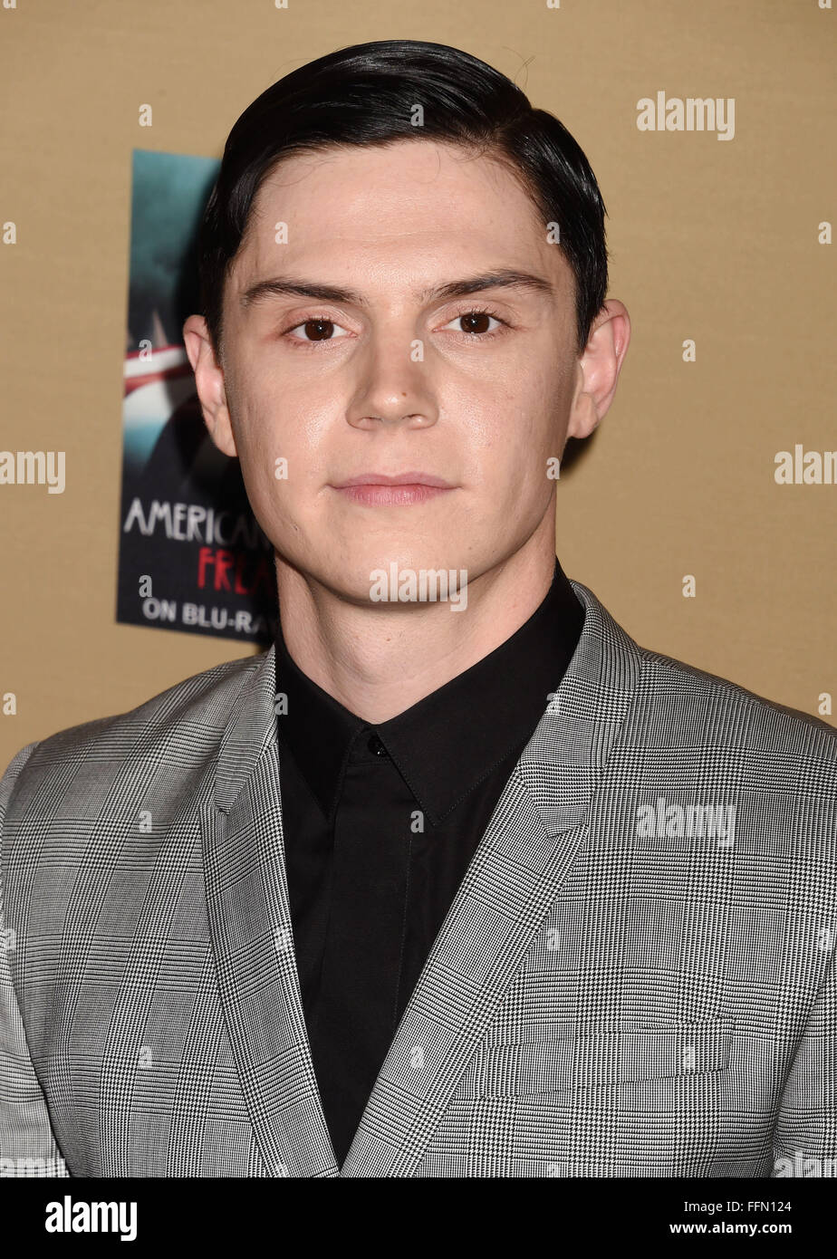 Actor Evan Peters arrives at the premiere screening of FX's 'American Horror Story: Hotel' at Regal - Stock Image
