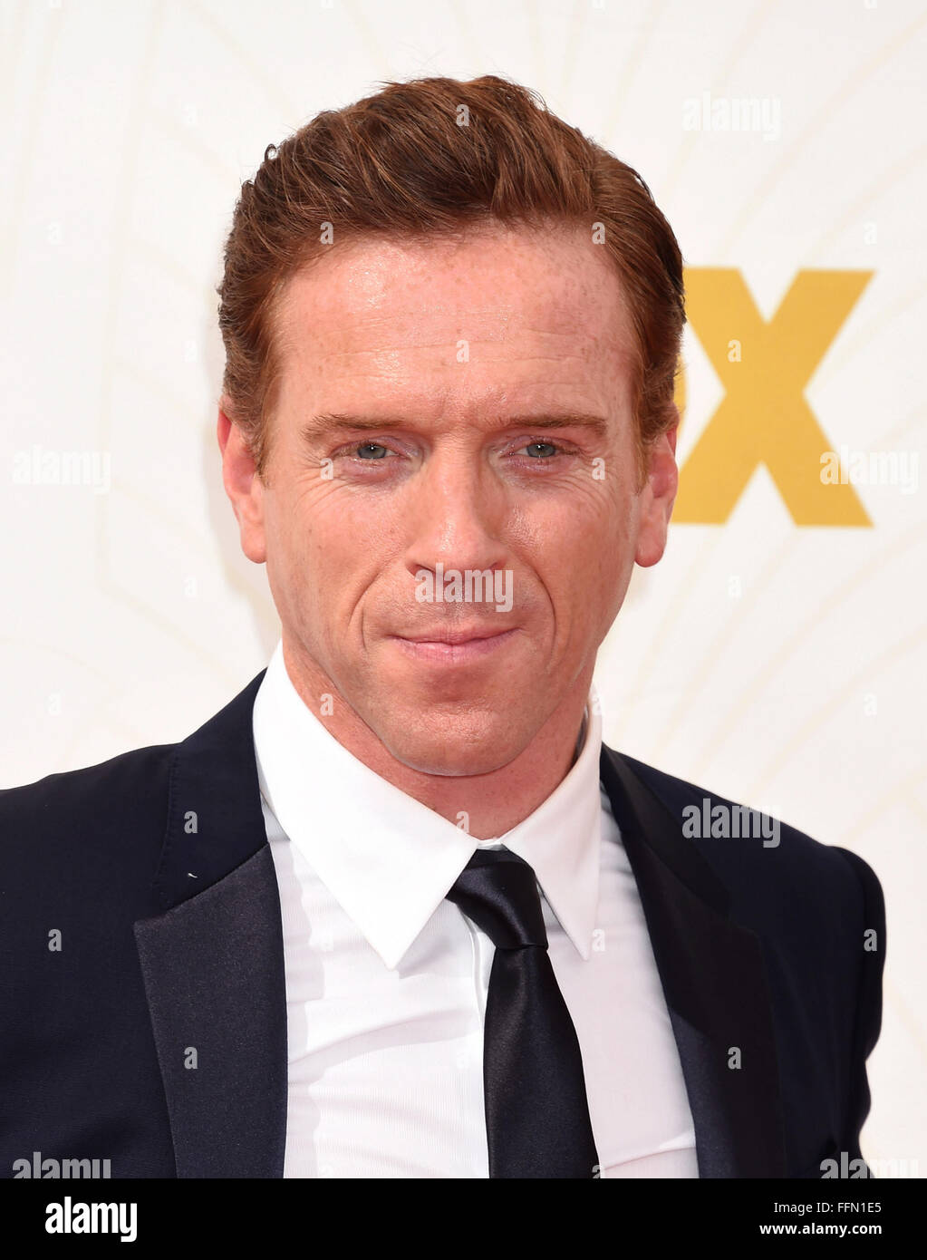 Actor Damian Lewis attends the 67th Annual Primetime Emmy Awards at Microsoft Theater on September 20, 2015 in Los - Stock Image