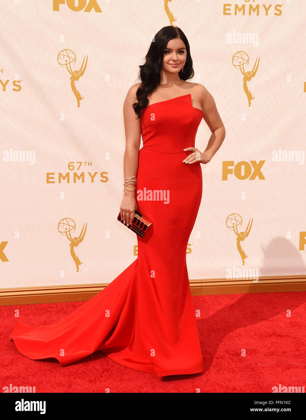 Actress Ariel Winter attends the 67th Annual Primetime Emmy Awards at Microsoft Theater on September 20, 2015 in - Stock Image