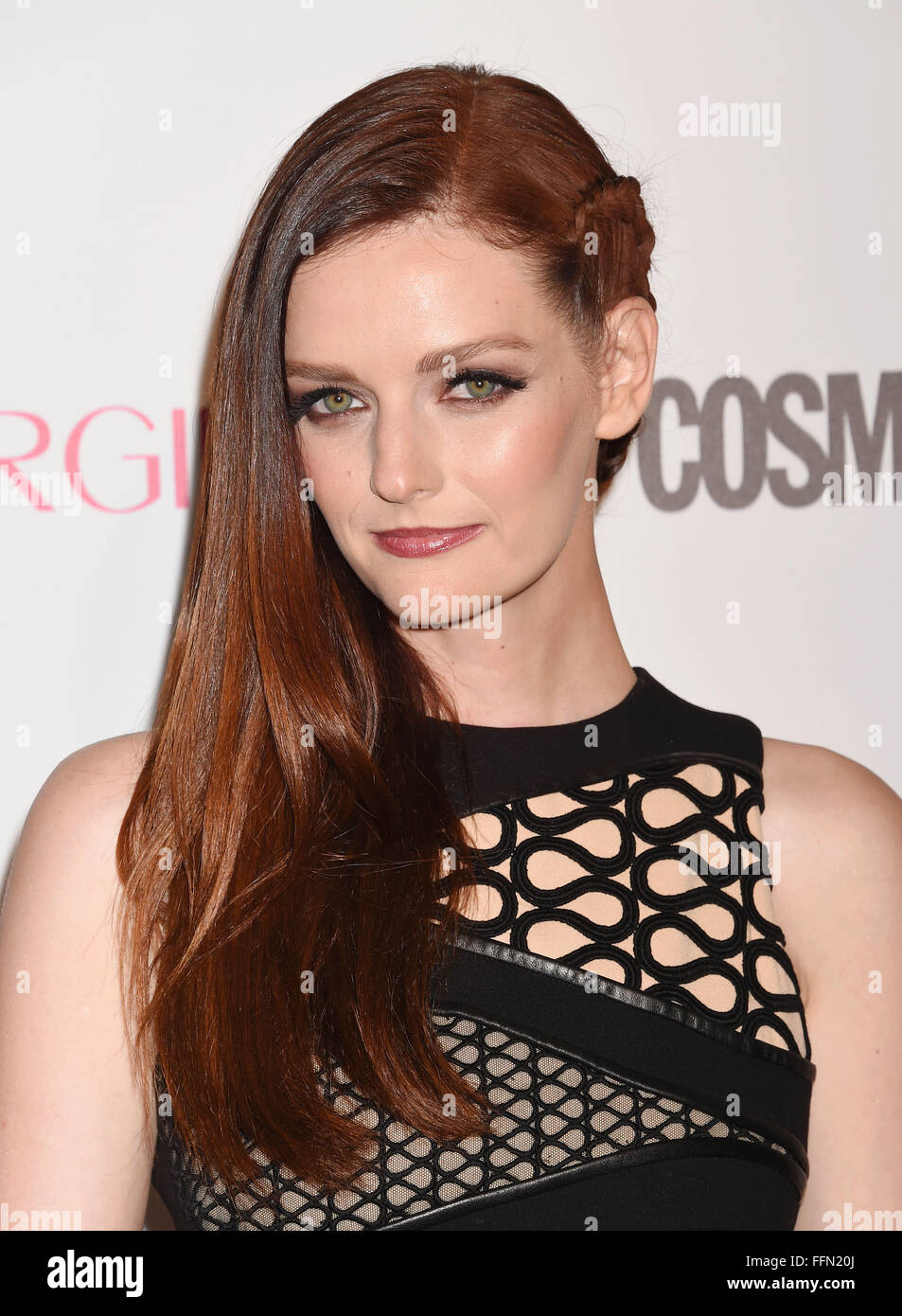 Actress/model Lydia Hearst arrives at Cosmopolitan Magazine's 50th Birthday Celebration at Ysabel on October - Stock Image