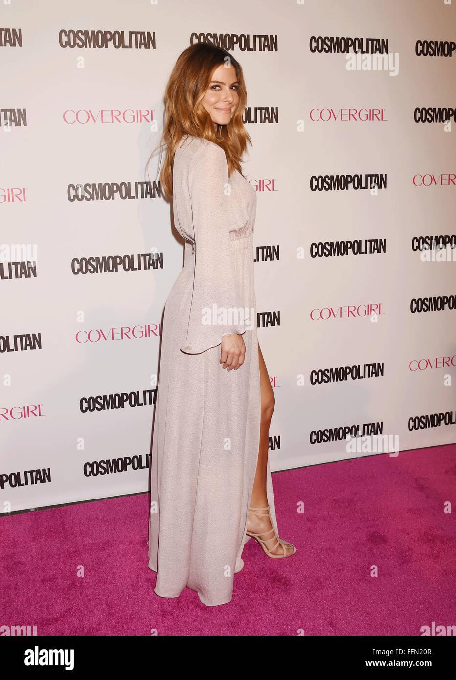 TV personality Maria Menounos arrives at Cosmopolitan Magazine's 50th Birthday Celebration at Ysabel on October - Stock Image
