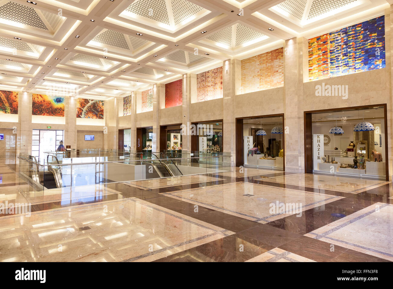 Luxury Mall in Muscat, Oman - Stock Image