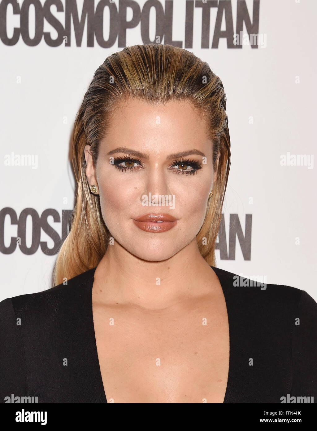 TV personality Khloe Kardashian arrives at Cosmopolitan Magazine's 50th Birthday Celebration at Ysabel on October - Stock Image