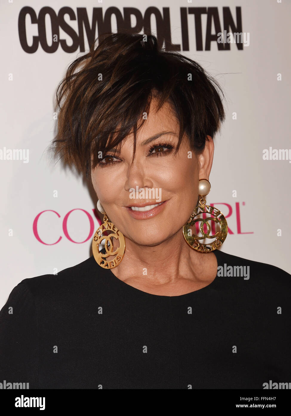 TV personality Kris Jenner arrives at Cosmopolitan Magazine's 50th Birthday Celebration at Ysabel on October - Stock Image