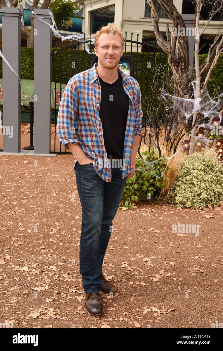 Actor Kevin McKidd attends the Premiere Of Sony Entertainment's 'Goosebumps' at the Regency Village - Stock Image
