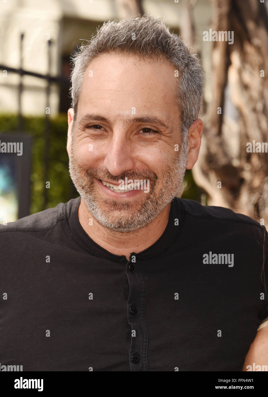 Director Rob Letterman attends the Premiere Of Sony Entertainment's 'Goosebumps' at the Regency Village - Stock Image