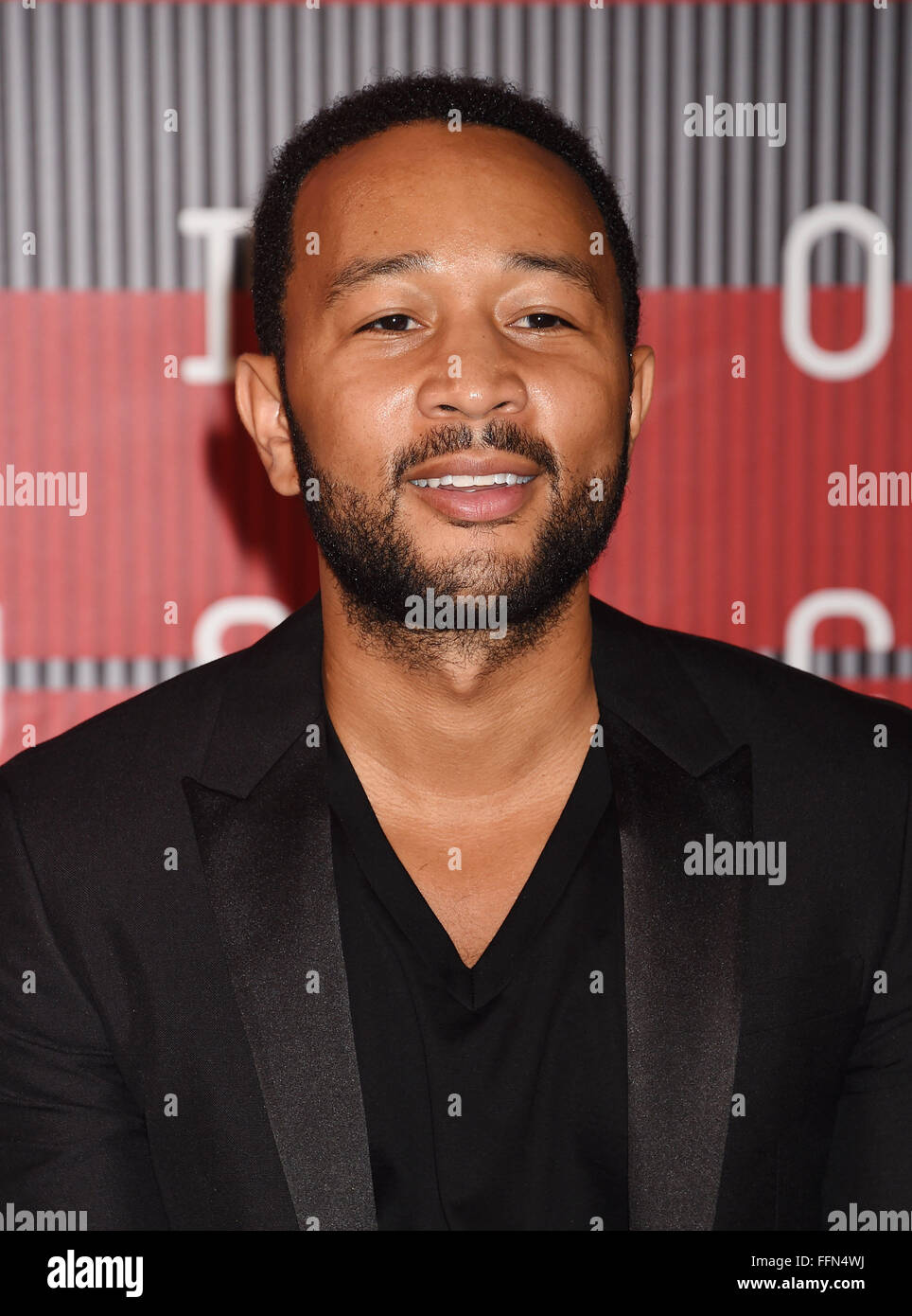 JOHN LEGEND arrives at the 2015 MTV Video Music Awards at Microsoft Theater on August 30, 2015 in Los Angeles, California., - Stock Image