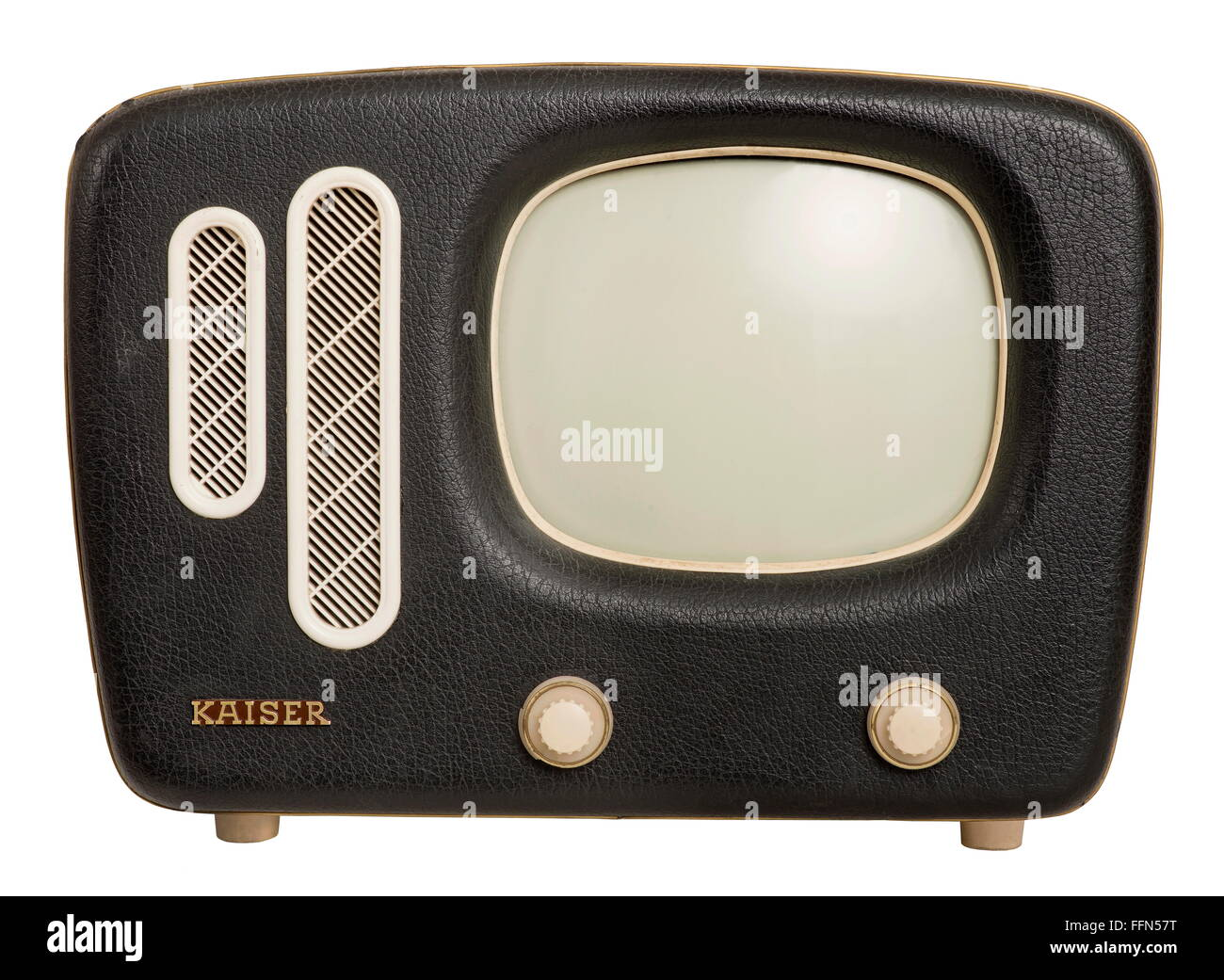 broadcast, television, television set Kaiser, version Prinz, weight: 11.5 kilogram, first portable television set - Stock Image