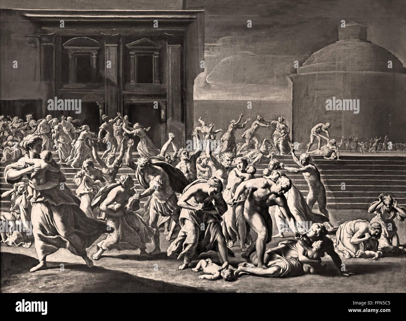 The Massacre of the Innocents - Le massacre des Innoçents  Jacques Stella 1596-1657 France French - Stock Image