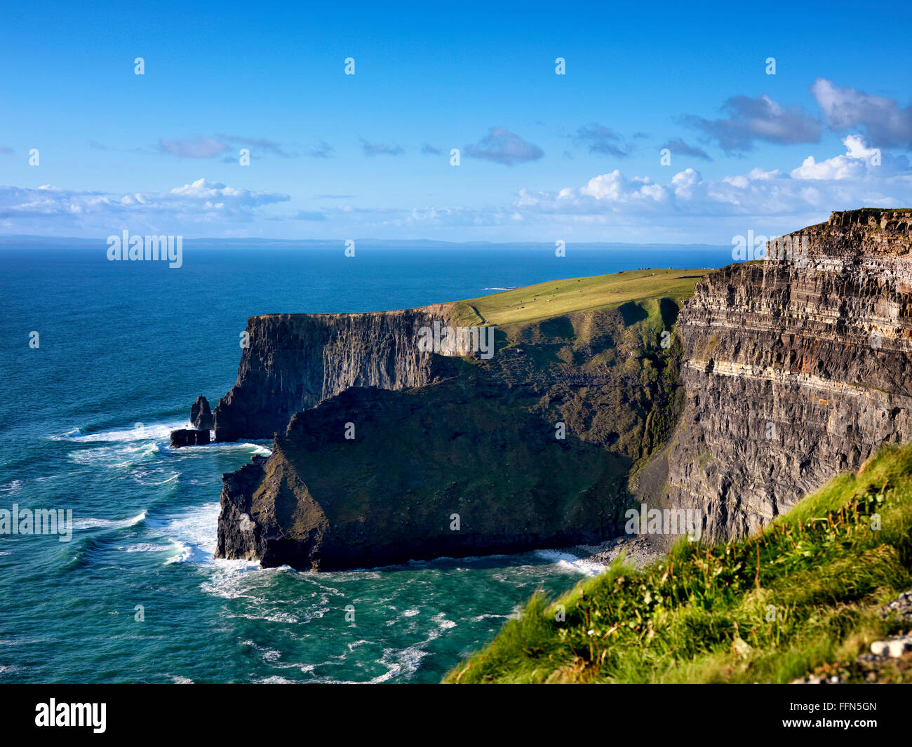 Cliffs of Moher; Clare Ireland - Stock Image