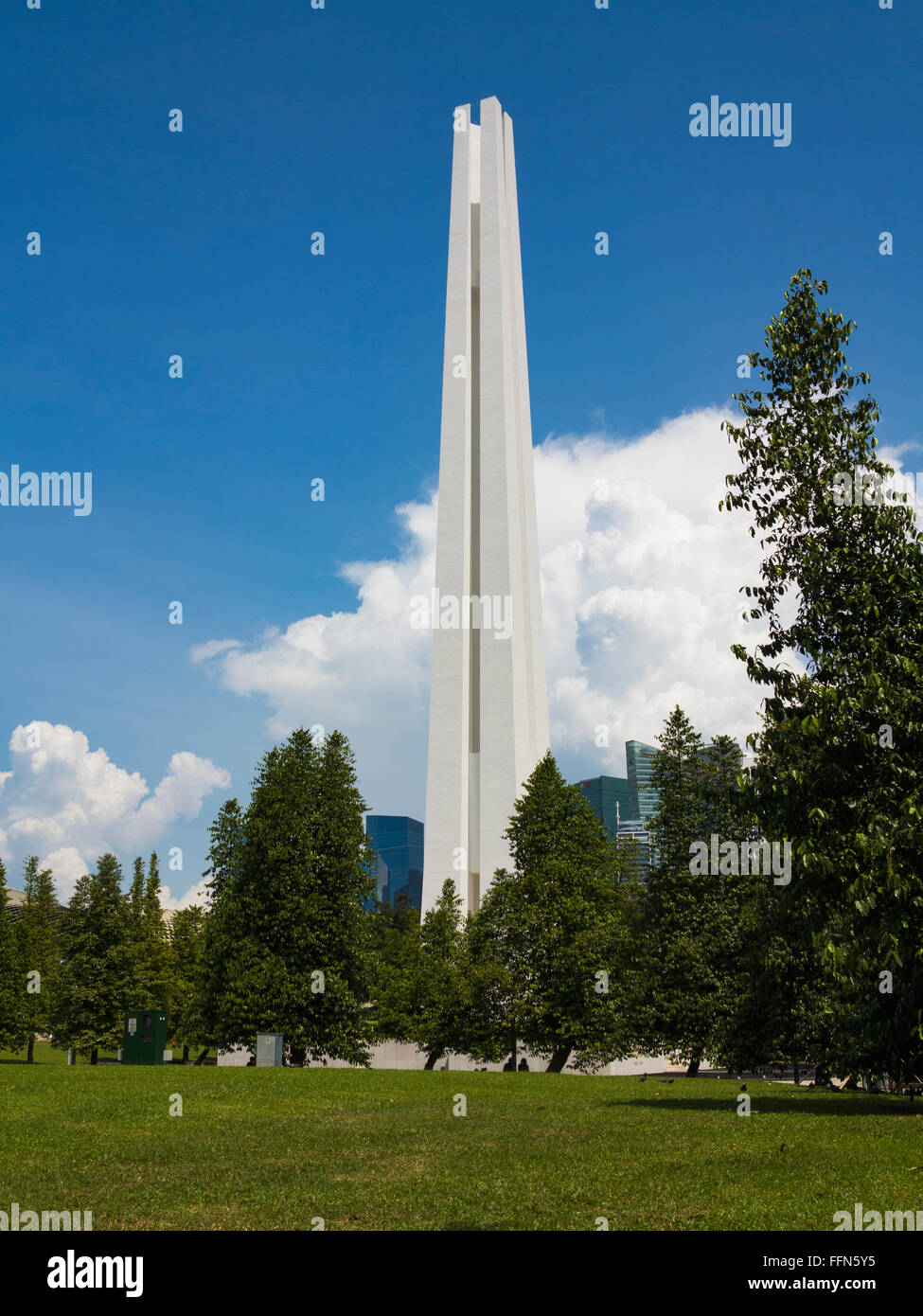 Civilian War Memorial, Singapore, Southeast Asia to the victims of the Japanese occupation - Stock Image