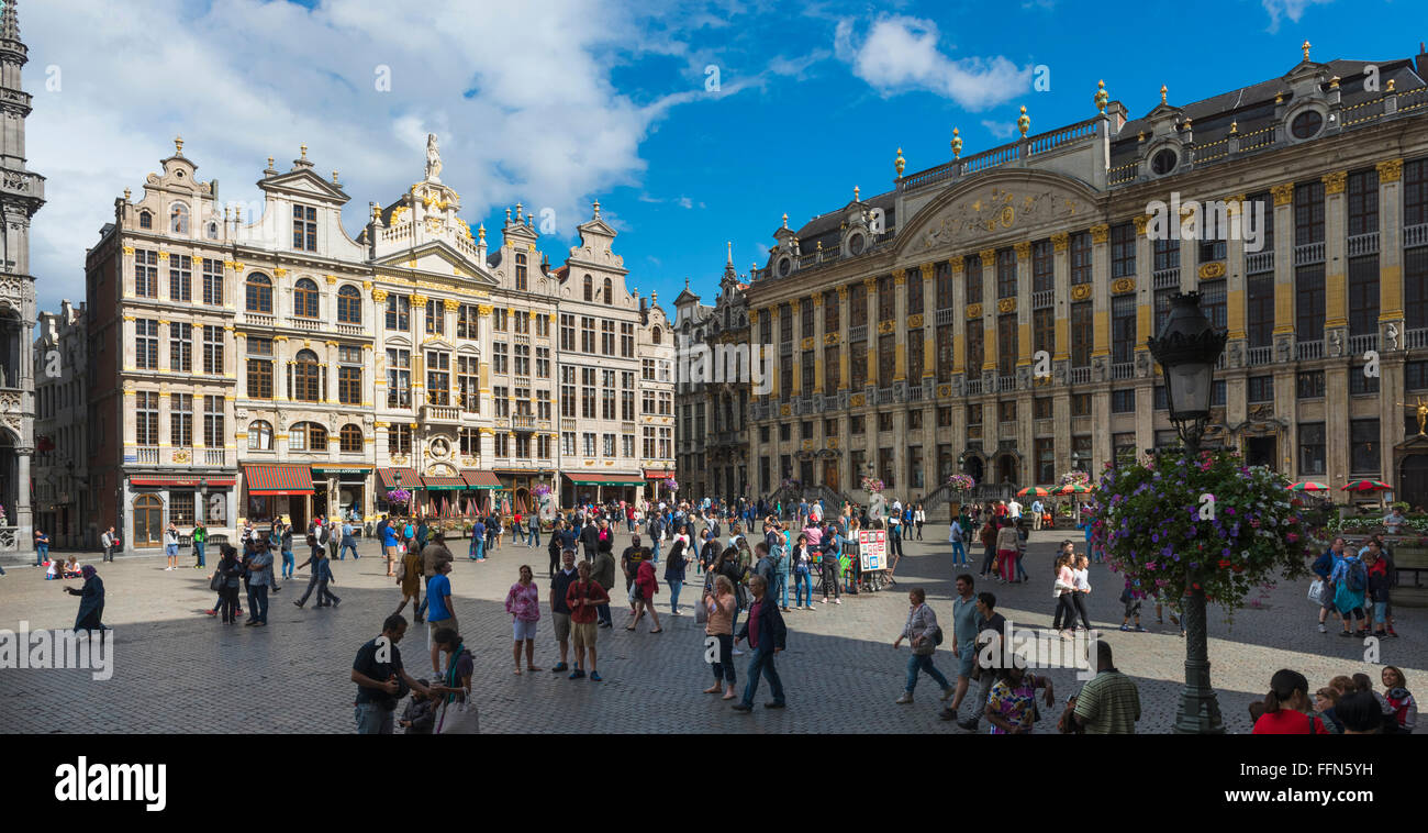 The Grand Place, Brussels, Belgium, Europe Stock Photo