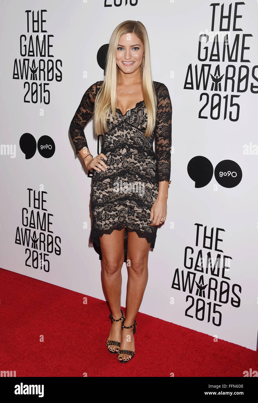 YouTube personality/author iJustine arrives at The Game Awards 2015 / Arrivals at Microsoft Theater on December - Stock Image