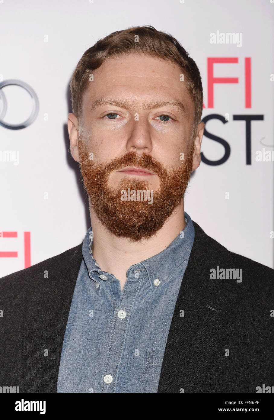 Producer Tristan Goligher arrives at the AFI FEST 2015 Presented by Audi Tribute to Charlotte Rampling and Tom Courtenay - Stock Image