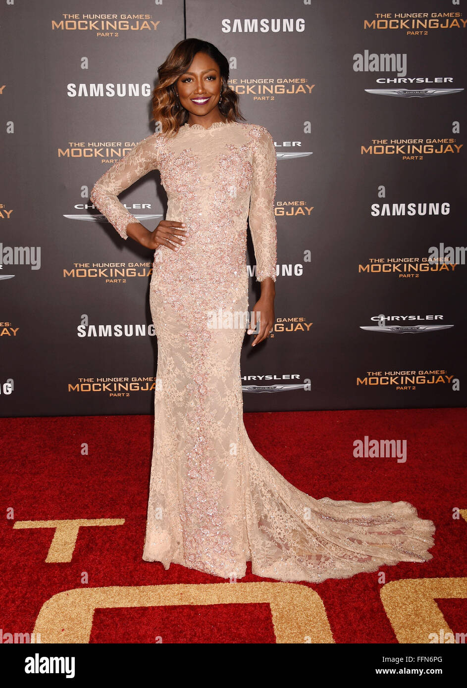Actress Patina Miller arrives at the premiere of Lionsgate's 'The Hunger Games: Mockingjay / Part 2' - Stock Image