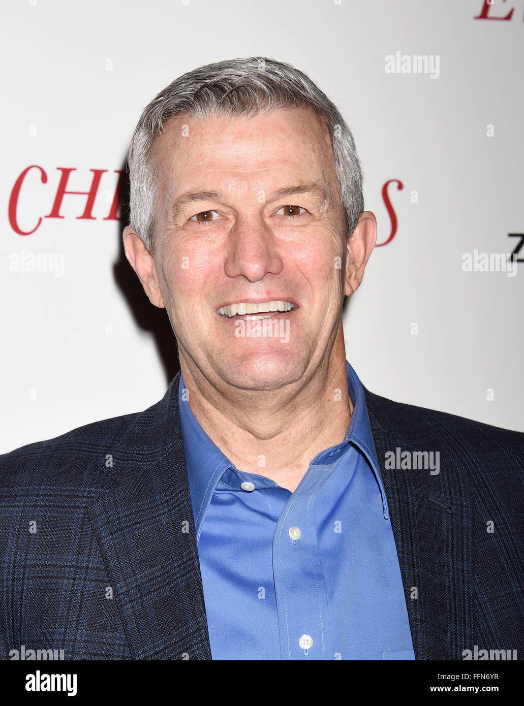 Writer/director Mitch Davis arrives at the premiere of Unstuck's 'Christmas Eve' at the ArcLight Hollywood - Stock Image