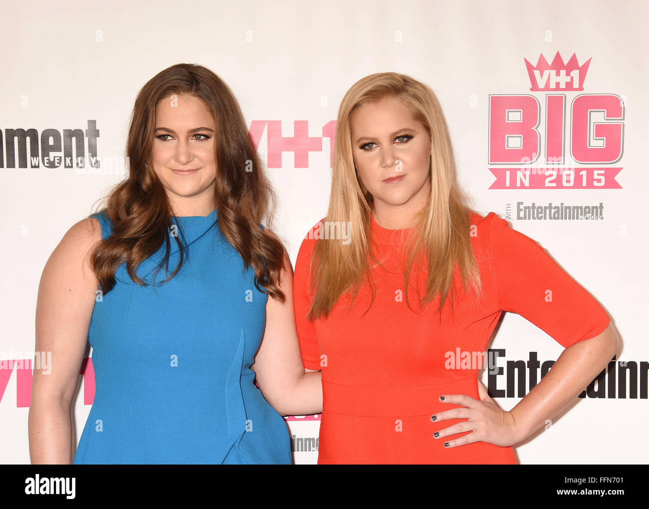 Actress/comedian Amy Schumer (R) and sister Kimberly Schumer attend VH1 Big In 2015 With Entertainment Weekly Awards Stock Photo
