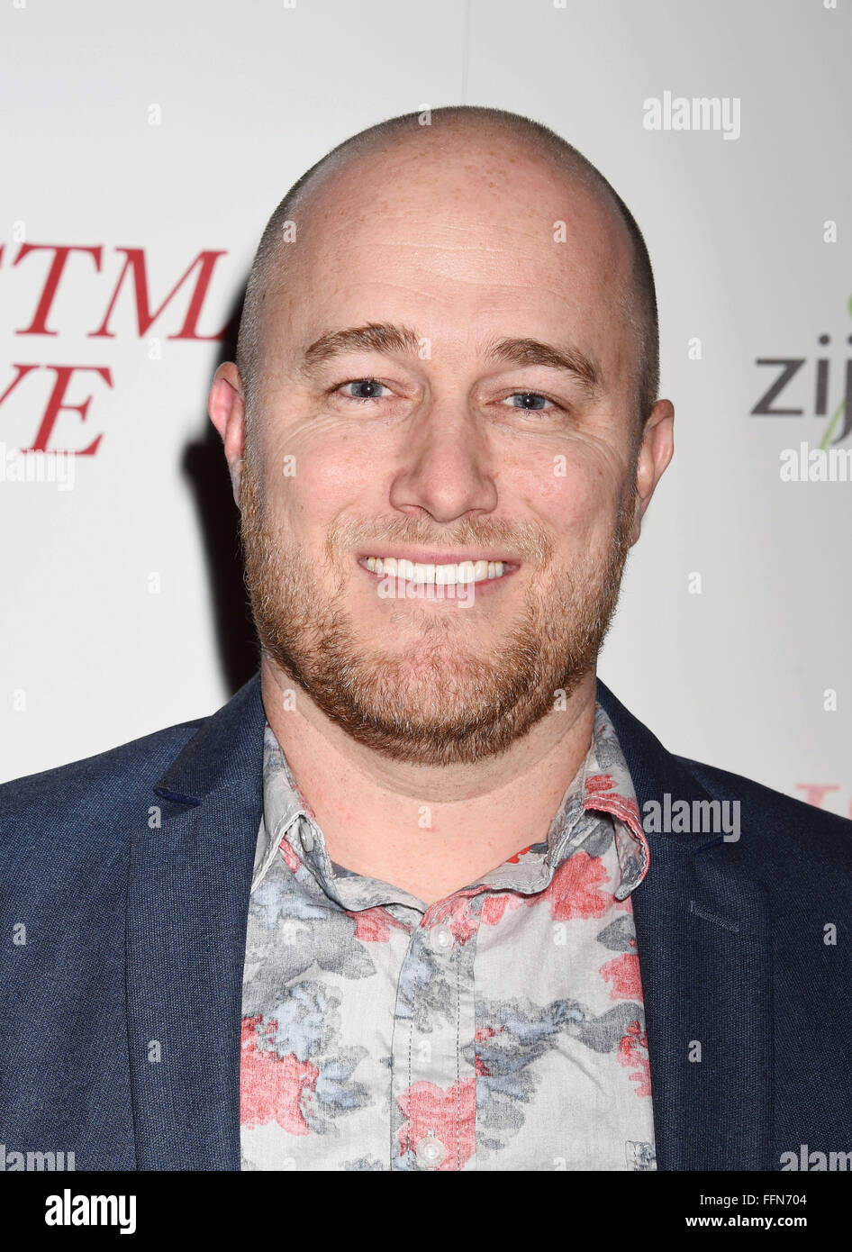 Composer Christian Davis arrives at the premiere of Unstuck's 'Christmas Eve' at the ArcLight Hollywood - Stock Image