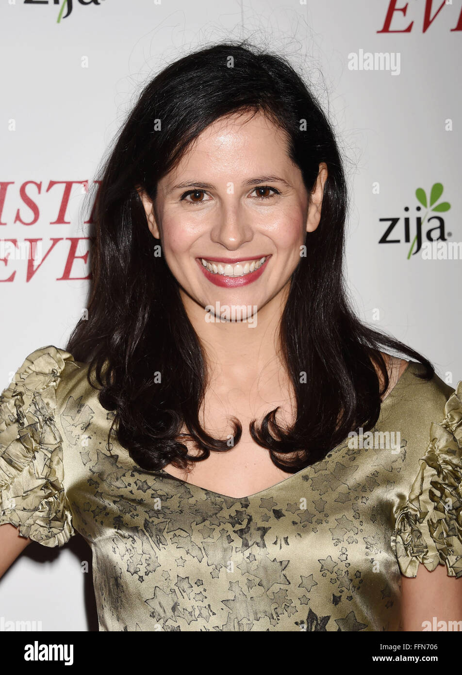 Actress Clara Perez arrives at the premiere of Unstuck's 'Christmas Eve' at the ArcLight Hollywood on - Stock Image