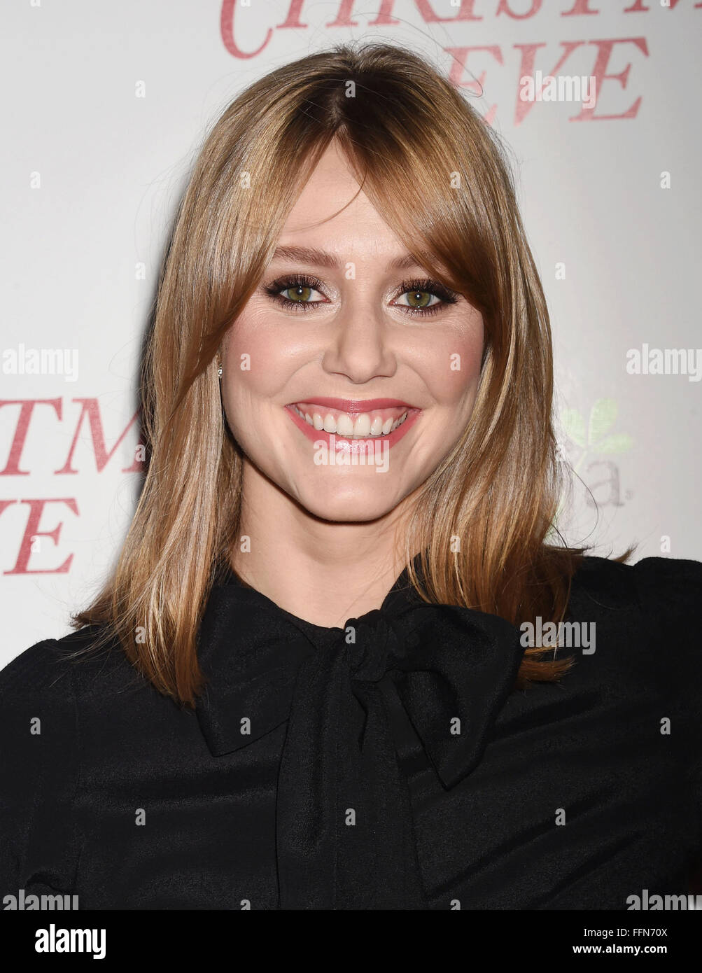 Actress Julianna Guill arrives at the premiere of Unstuck's 'Christmas Eve' at the ArcLight Hollywood - Stock Image